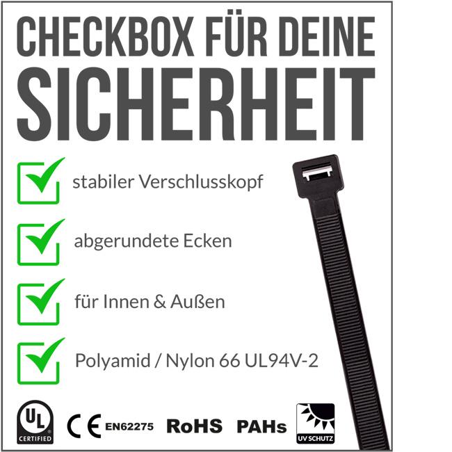 Kabelbinder Standard schwarz
